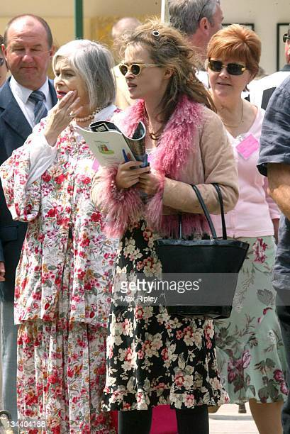 Helena Bonham Carter during RHS Chelsea Flower Show 2004 at Royal Hospital Chelsea in London Great Britain