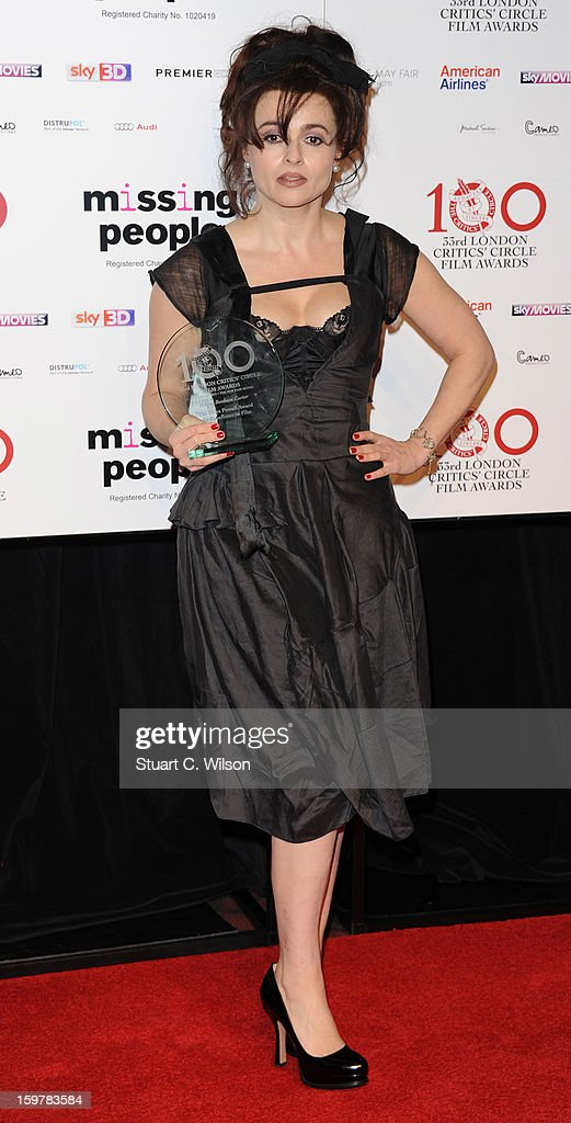Helena Bonham Carter poses in the press room at the London Critics' Circle Film Awards at The Mayfair Hotel on January 20, 2013 in London, England.