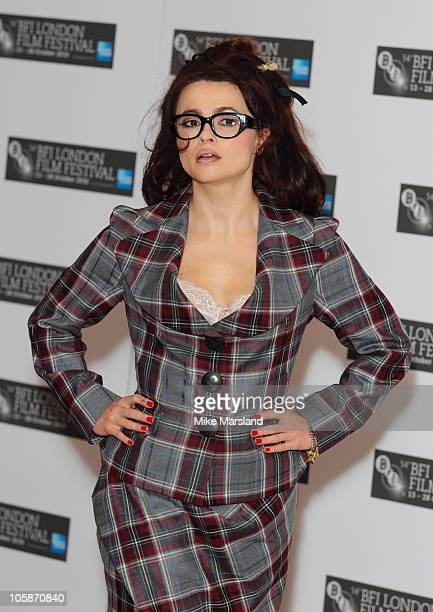 Helena Bonham Carter promotes the film 'The King's Speech' as part of the 54th BFI London Film Festival at Vue West End on October 21 2010 in London...