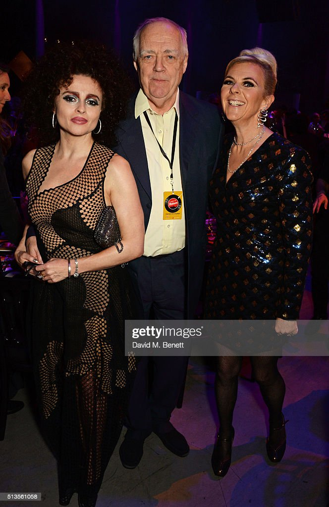 Helena Bonham Carter Sir Tim Rice and Dora Loewenstein attend 'A Night Of Motown' for Save The Children UK at The Roundhouse on March 3 2016 in...