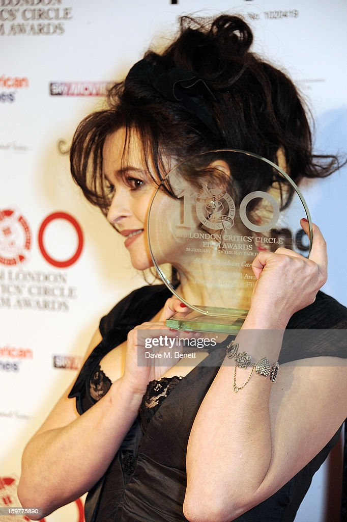Helena Bonham Carter, winner of the Dilys Powell Award For Excellence in Film, poses in the press room at The London Critics Circle Film Awards at the May Fair Hotel on January 20, 2013 in London, England.
