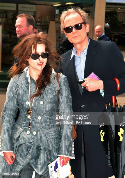 Helena BonhamCarter accompanied by Bill Nighy tour around the Chelsea Flower show in west London
