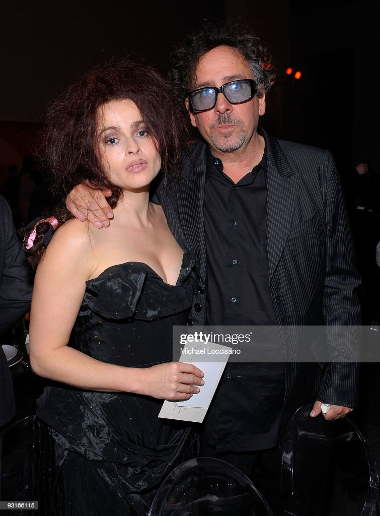 Helena BonhamCarter and director Tim Burton attend the MoMA's Second Annual Film Benefit Honoring Tim Burton at the MOMA on November 17 2009 in New...