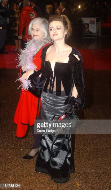 Helena BonhamCarter and guest during 'Bridget Jones the Edge of Reason' Premiere Arrivals at Odeon Leicester Square in London Great Britain