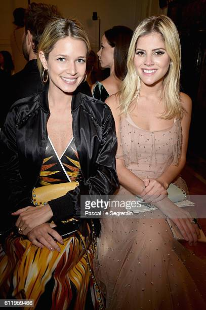 Helena Bordon and Lala Rudge attend the Valentino show as part of the Paris Fashion Week Womenswear Spring/Summer 2017 on October 2 2016 in Paris...