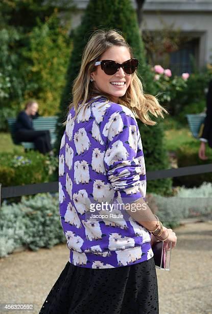 Helena Bordon arrives at Gianbattista Valli during Paris Fashion Week Womenswear SS 2015 on September 29 2014 in Paris France