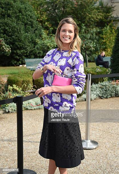 Helena Bordon arrives at Gianbattista Valli during Paris Fashion Week Womenswear SS 2015 on September 29 2014 in Paris France