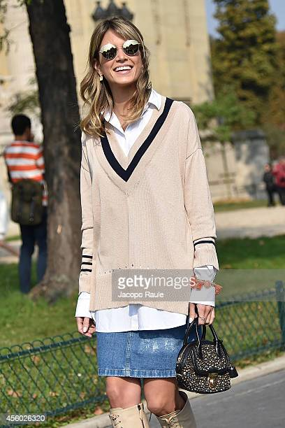 Helena Bordon arrives at Guy Laroche Fashion Show during Paris Fashion Week Womenswear SS 2015 on September 24 2014 in Paris France