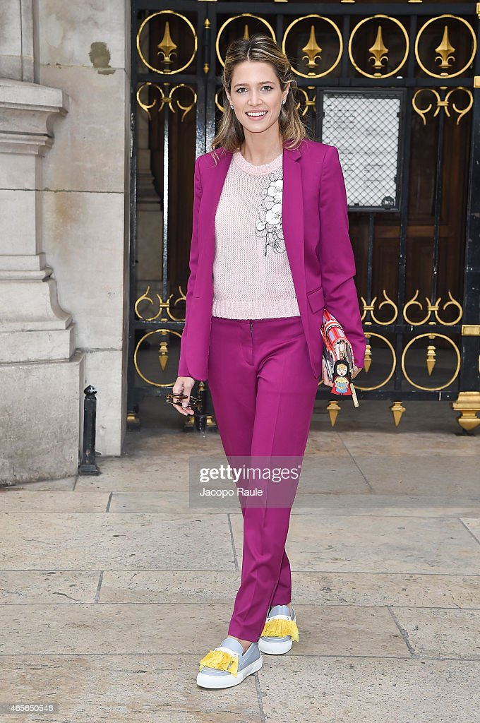 Helena Bordon arrives at Stella McCartney Fashion Show during Paris Fashion Week Fall Winter 2015/2016 on March 9 2015 in Paris France