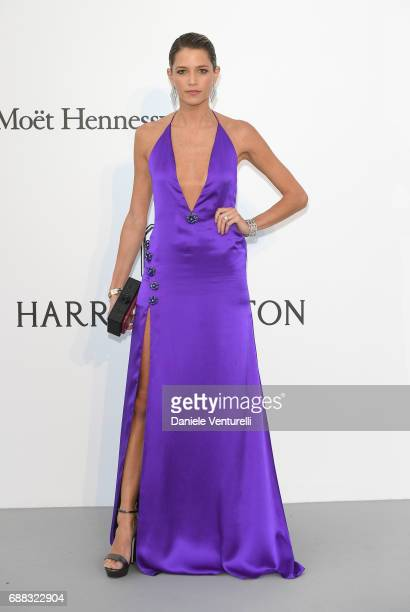 Helena Bordon arrives at the amfAR Gala Cannes 2017 at Hotel du CapEdenRoc on May 25 2017 in Cap d'Antibes France