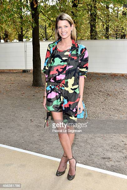 Helena Bordon arrives at the Valentino show as part of the Paris Fashion Week Womenswear Spring/Summer 2015 on September 30 2014 in Paris France