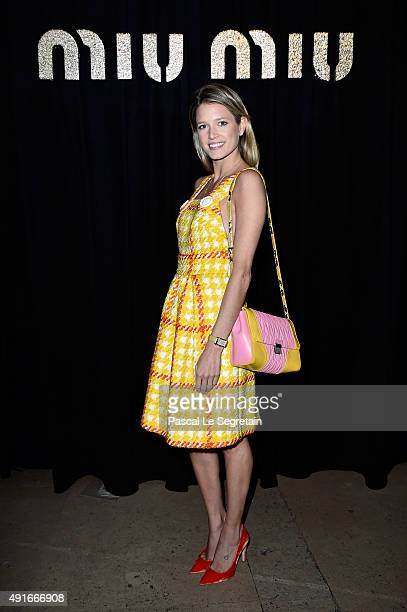 Helena Bordon attend the Miu Miu show as part of the Paris Fashion Week Womenswear Spring/Summer 2016 on October 7 2015 in Paris France