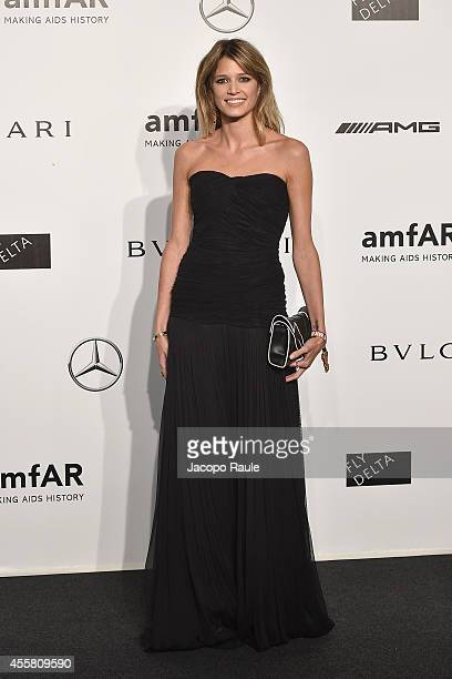 Helena Bordon attends amfAR Milano 2014 during Milan Fashion Week Womenswear Spring/Summer 2015 on September 20 2014 in Milan Italy