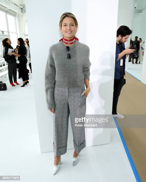 Helena Bordon attends Delpozo during New York Fashion Week at Pier 59 Studios on February 15 2017 in New York City