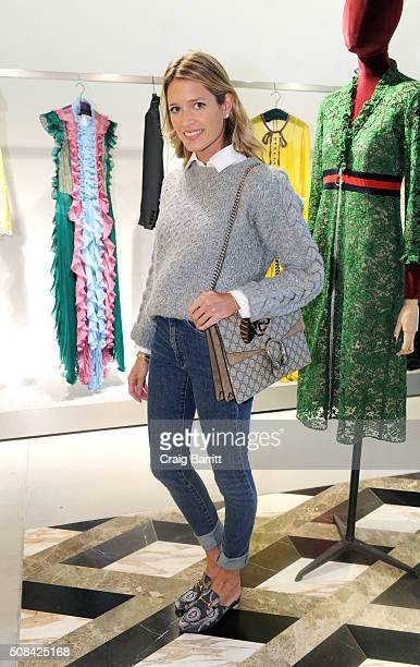 Helena Bordon attends the Bergdorf Goodman Gucci press event on February 4 2016 in New York City