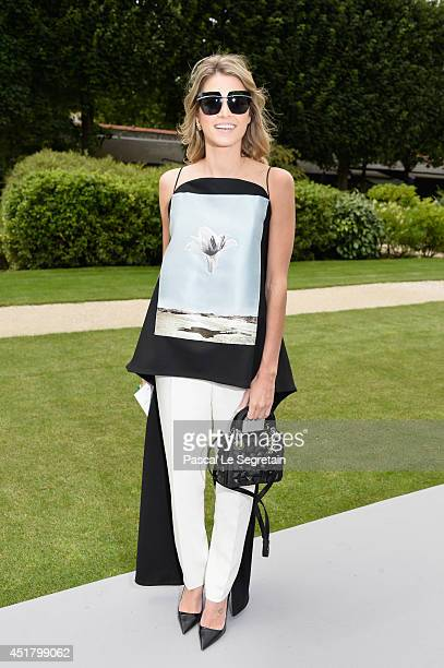 Helena Bordon attends the Christian Dior show as part of Paris Fashion Week Haute Couture Fall/Winter 20142015 on July 7 2014 in Paris France