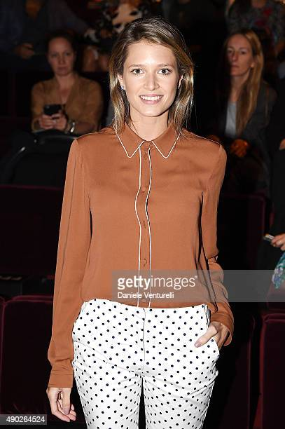 Helena Bordon attends the Dolce Gabbana show during the Milan Fashion Week Spring/Summer 2016 on September 27 2015 in Milan Italy