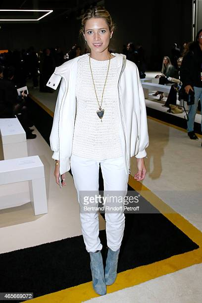 Helena Bordon attends the Giambattista Valli show as part of the Paris Fashion Week Womenswear Fall/Winter 2015/2016 on March 9 2015 in Paris France