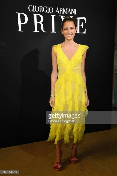 Helena Bordon attends the Giorgio Armani Prive Haute Couture Fall/Winter 20172018 show as part of Haute Couture Paris Fashion Week on July 4 2017 in...