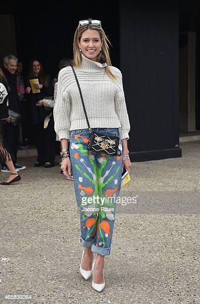 Helena Bordon attends the Miu Miu show as part of Paris Fashion Week Fall Winter 2015/2016 on March 11 2015 in Paris France