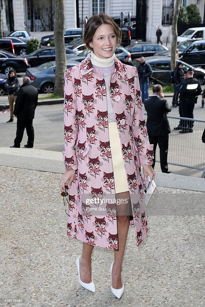 Helena Bordon attends the Miu Miu show as part of the Paris Fashion Week Womenswear Fall/Winter 2014-2015 on March 5, 2014 in Paris, France.