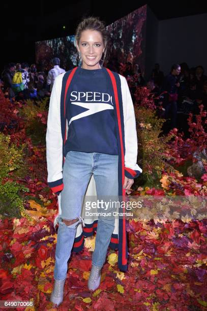 Helena Bordon attends the Moncler Gamme Rouge show as part of the Paris Fashion Week Womenswear Fall/Winter 2017/2018 on March 7 2017 in Paris France