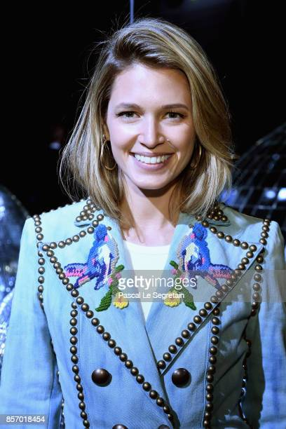 Helena Bordon attends the Moncler Gamme Rouge show as part of the Paris Fashion Week Womenswear Spring/Summer 2018 on October 3 2017 in Paris France