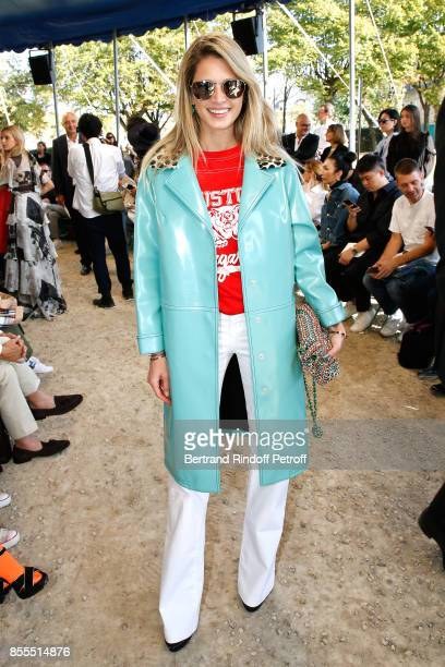 Helena Bordon attends the Nina Ricci show as part of the Paris Fashion Week Womenswear Spring/Summer 2018 on September 29 2017 in Paris France