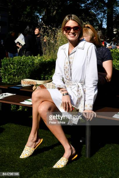Helena Bordon attends the Tory Burch Spring Summer 2018 Fashion Show at Cooper Hewitt Smithsonian Design Museum on September 8 2017 in New York City