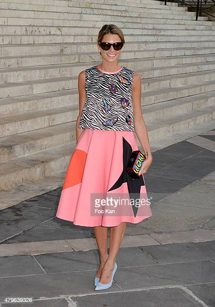 Helena Bordon attends the Versace show as part of Paris Fashion Week Haute Couture Fall/Winter 2015/2016 on July 5 2015 in Paris France