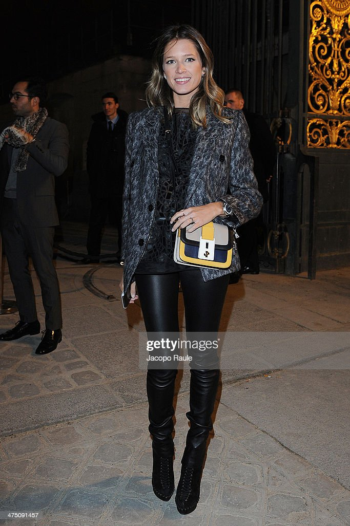 Helena Bordon attends the Vionnet show as part of the Paris Fashion Week Womenswear Fall/Winter 2014-2015 on February 26, 2014 in Paris, France.