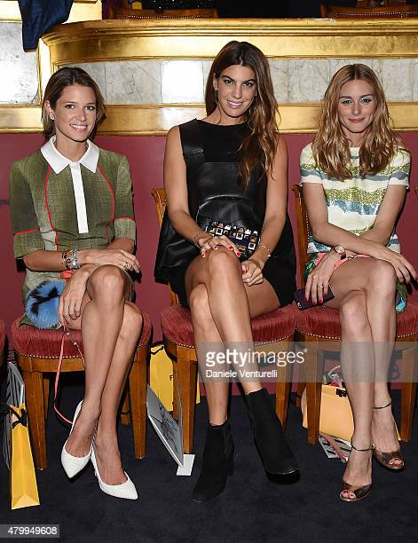 Helena Bordon Bianca Brandolini dÕAdda and Olivia Palermo attend the Fendi show as part of Paris Fashion Week Haute Couture Fall/Winter 2015/2016 on...