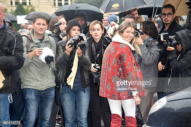 Helena Bordon Hayek arrives at Giambattista Valli Fashion Show during the Paris Fashion Week S/S 2016 Day Seven on October 5 2015 in Paris France