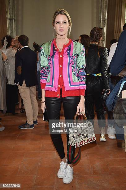Helena Bordon in Alberta Ferretti attends the Alberta Ferretti show during Milan Fashion Week Spring/Summer 2017 on September 21 2016 in Milan Italy