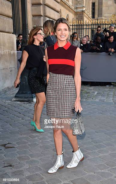 Helena Bordon is arriving at Dior Fashion Show during the Paris Fashion Week S/S 2016 Day 4 on October 2 2015 in Paris France