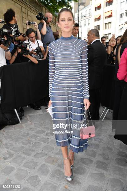 Helena Bordon is seen arriving at Valentino fashion show during the Paris Fashion Week Haute Couture Fall/Winter 20172018 on July 5 2017 in Paris...