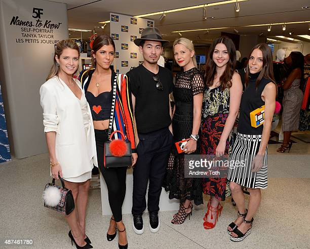 Helena Bordon Maria Sole Cecchi Han Chong Blair Eadie Tanya Taylor and Pari Ehsan attend the Bergdorf Goodman Names To Know Event at Bergdorf Goodman...