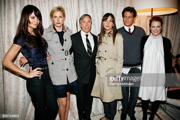 Helena Christensen Alice Evans Tommy Hilfiger Maggie Gyllenhaal Loan Gruffudd and Julianne Moore attend TOMMY HILFIGER Fall 2008 Fashion Show at...
