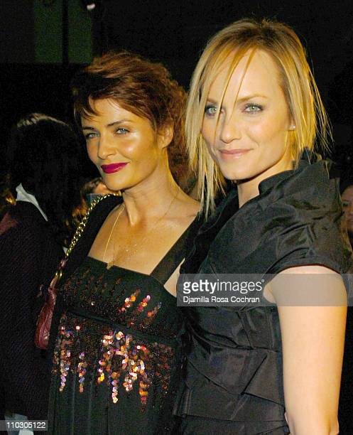 Helena Christensen and Amber Valletta during MercedesBenz Fashion Week Fall 2007 Marc Jacobs Arrivals at New York State Armory in New York City New...