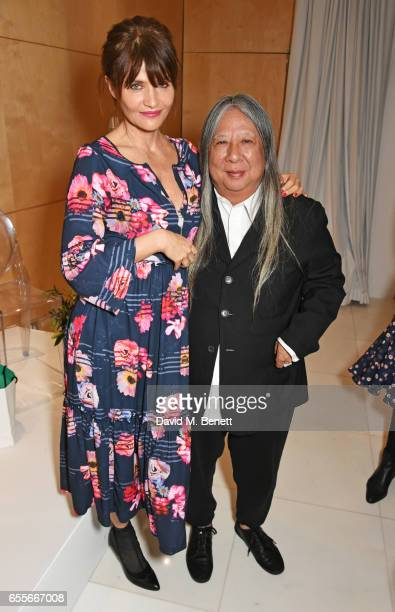 Helena Christensen and John Rocha attend the Debenhams Summer 17 Salon Show with global supermodel Helena Christensen and Emma Willis alongside a...