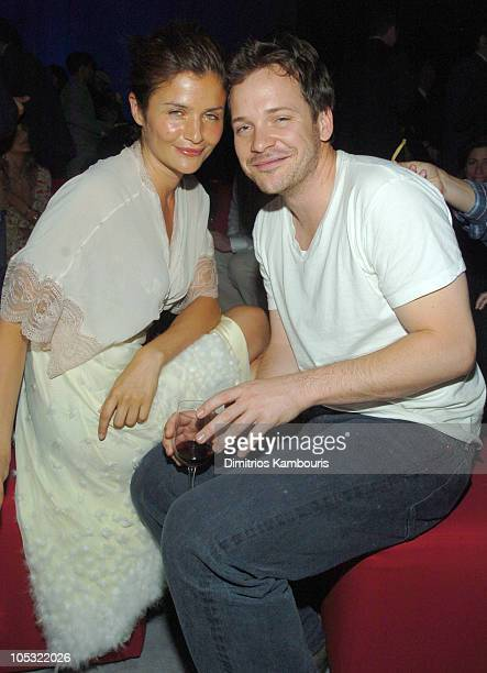 Helena Christensen and Peter Sarsgaard during The 100th Anniversary of The Cartier Santos Watch 1904 2004 at The Lexington Avenue Armory in New York...