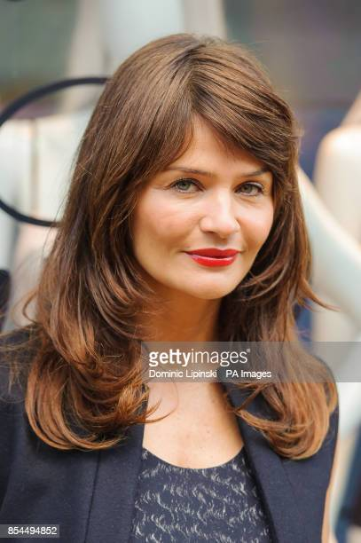 Helena Christensen at a photocall to launch her new SS14 lingerie collection for Triumph at Fenwick New Bond Street in central London
