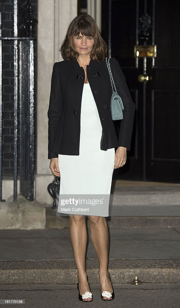 <a gi-track='captionPersonalityLinkClicked' href=/galleries/search?phrase=Helena+Christensen&family=editorial&specificpeople=202841 ng-click='$event.stopPropagation()'>Helena Christensen</a> at the Downing Street reception during London Fashion Week Fall/Winter 2013/14 at 10 Downing Street on February 15, 2013 in London, England.