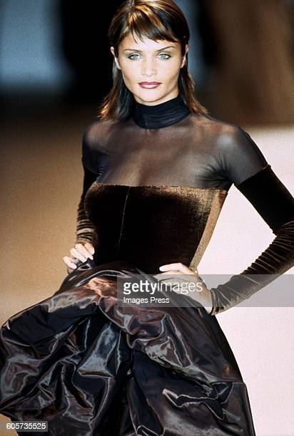 Helena Christensen at the Gianfranco Ferre Fall 1994 show circa 1994 in Milan Italy