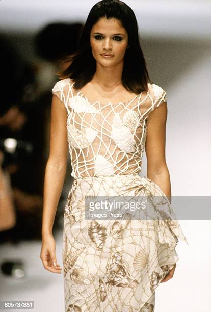 Helena Christensen at the Valentino Spring 1996 show circa 1995 in Paris France