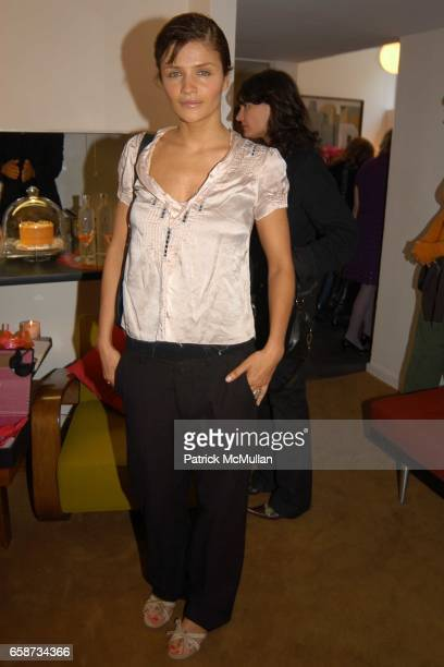 Helena Christensen attend the Boudoir Oscar Suite Sponsored by Mario Badescu Vidal Sassoon and Creative Mail Design at the Chateau Marmont on...