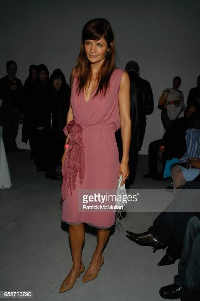 Helena Christensen attends Michel Comte Water Foundation auction benefit at the Ace Gallery on February 2004 in Beverly Hills CA