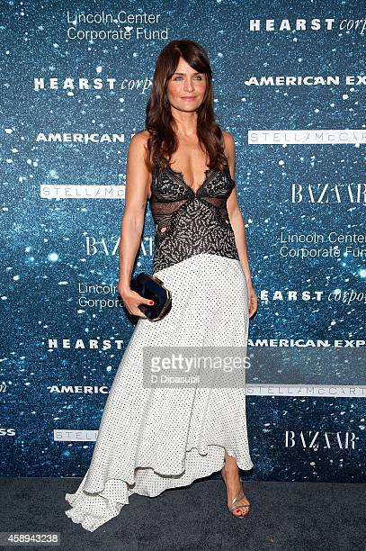 Helena Christensen attends the 2014 Women's Leadership Award Honoring Stella McCartney at Alice Tully Hall at Lincoln Center on November 13 2014 in...