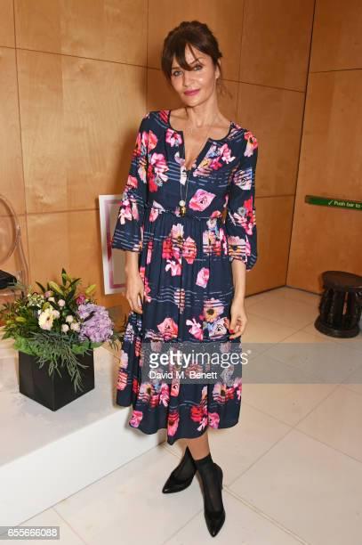 Helena Christensen attends the Debenhams Summer 17 Salon Show with global supermodel Helena Christensen and Emma Willis alongside a selection of...