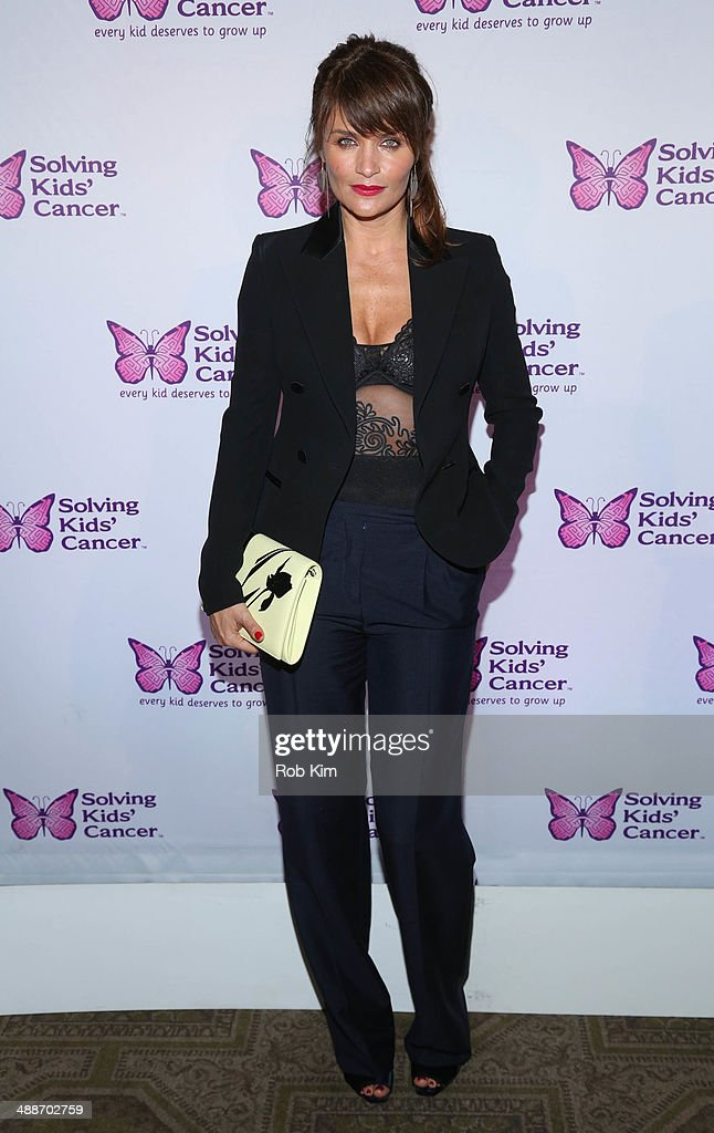 Helena Christensen attends the fifth annual Solving Kids' Cancer Spring Celebration at 583 Park Avenue on May 7, 2014 in New York City.